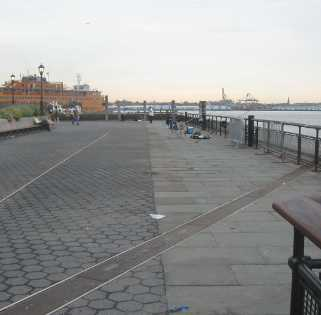 Battery Park Promenade with no benches