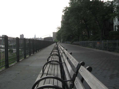 The Brooklyn Heights Promenade Early in the Morning