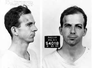 Mugshot of Lee Harvey Oswald taken November 23, 1963