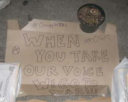 Occupy Wall Street threat of war