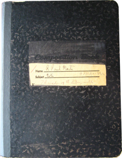 R. Paul's notebook from long ago.