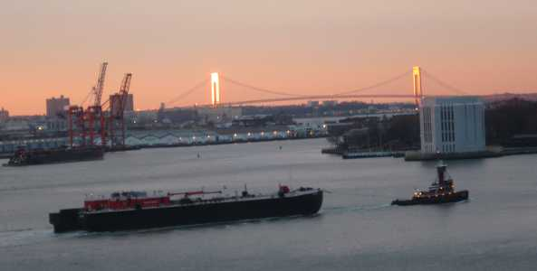 Verrazano Narrows Bridge as seen from WBAI