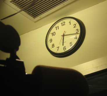 The WBAI Master Control clock restored